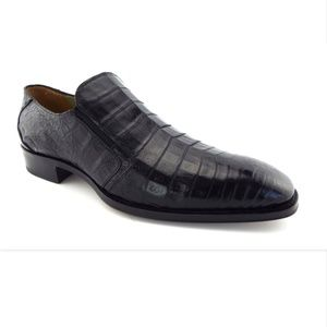 Unworn MEZLAN Custom Black Genuine Croc Loafer 9.5